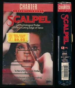 Charter Ent Betamax NOT VHS Scalpel 1977 Horror Thriller Psycho Surgeon Cult