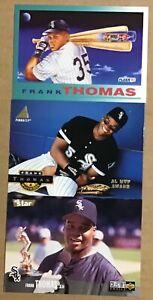 FRANK THOMAS 3 CARD LOT—PINNACLE 1994…FLEER 1992…UD CC 1996-–WHITE SOX