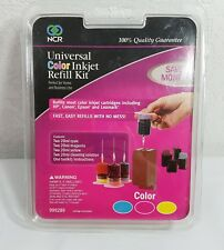 Inkjet Refill Kit NCR Universal Color 999289 Save Money Cyan Magenta Yellow