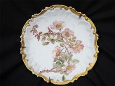 Antique Limoge Hand Painted French Floral Gilt Display Plate 19th Century France