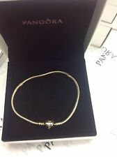 "Authentic Pandora 14K Solid Gold 550702 Charm Bracelet 21cm / 8.3"" - New w/Box"