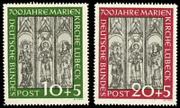 Germany 1951 MARIENKIRCHE SET MNH #B316-17 20pf  CV$160