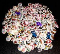 LOT of 189 Cute Vintage Plastic Painted Shank Buttons - Animals, Balloon, & More