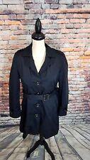 Michael Kors Black DETACHABLE Wool Blanket Liner Rain Trench Coat Jacket Sz PS