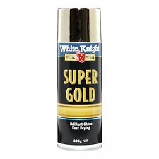 White Knight 300g Super Gold Spray Paint -Lustrous gold-like finish