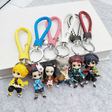 Demon Slayer Kimetsu no Yaiba Figures Mobile Phone Strap Leather Keychain Charm