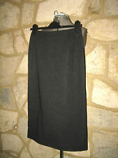 MAXMARA LADY SIZE 8 PURE VIRGIN WOOL GREY STRAIGHT BUSINESS SKIRT MADE IN ITALY