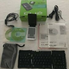 Sony Clie Peg-T665C Handheld in box w/ all parts Plus Sony Pega-Kb11 keyboard