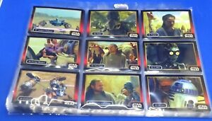 ICON STAR WARS BASE SET OF 61 TRADING CARDS IN SLEEVES  FREE P/P