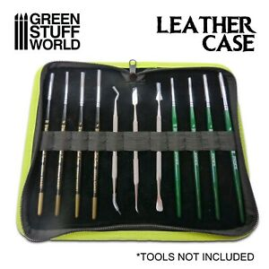 Premium Leather Case for Tools and Brushes - for Carver sculpting tool brushes