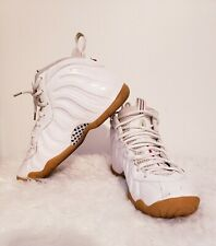 Nike Lil Posite PRO GS White Green Red Gum Gym 644792-100 Size 6Y