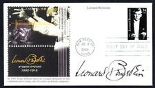 JEWISH COMPOSER LEONARD BERNSTEIN Stamp 3521 Mystic First Day Cover FDC (1547)