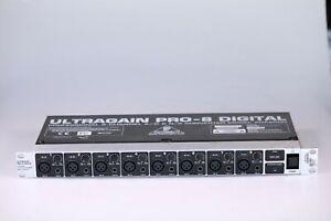 Behringer Ultragain PRO-8 8-Channel AD DA Converter ADA8000 ADAT