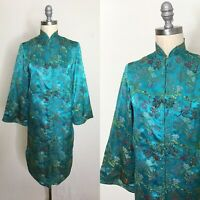 Vintage 60s Electric Teal Brocade Jacket Size Small