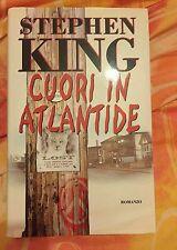 Libro stephen king CUORI IN ATLANTIDE copertina rigida lingua italiana 1°EDIZION