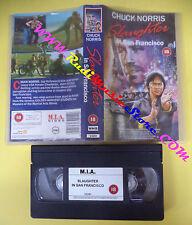 VHS film SLAUGHTER IN SAN FRANCISCO 1990 Chuck Norris M.I.A V3291 (F46) no dvd
