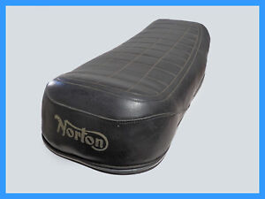 NORTON DUAL SEAT WITH NORTON LOGO PRINTED. BASE MODIFIED