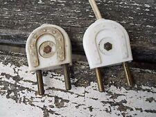 2 prises pour lampe vintage décor fer à cheval , loft , industriel , lampadaire