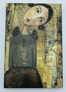 """KELLY RAE ROBERTS """"Journey to her Wings"""" 2009 Empowering 8x12"""" CANVAS WALL ART"""