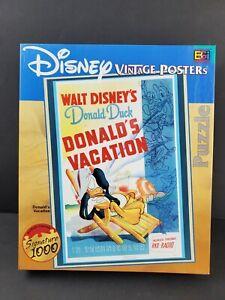 DISNEY VINTAGE POSTERS DONALD DUCK DONALD'S VACATION 1026 PIECE BUFFALO PUZZLE