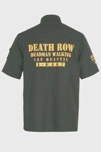 "Death Row Mens Black Shirt. Short sleeve. 42-44"" chest"