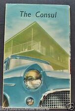 1956 Consul Mark II English Ford Sales Brochure US Market Nice Original 56