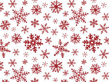 """Red Snowflake Flurry Tissue 240 ~ 20""""x30"""" Sheets Christmas Winter Holiday Gifts"""
