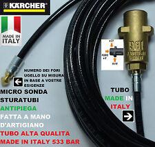 MICRO SONDA SPURGATUBI 10 MT METRI STURATUBI PROFESSIONALE ANTIPIEGA PER KARCHER
