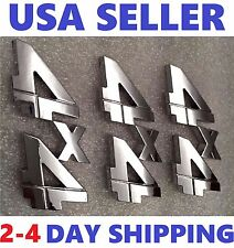 3X Chrome 4X4 QUALITY EMBLEM 3D 4 X 4 truck LOGO BADGE SIGN FIT ALL VEHICLES