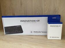 Innovation IT USB Tastatur Maus SET schwarz GER für Computer / PC NEUWARE TOP