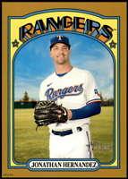 Jonathan Hernandez 2021 Topps Heritage 5x7 Gold #479 SP /10 Rangers