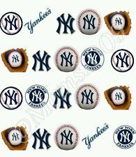 MLB NY Yankees ail Art Water Transfer decal! Free Shipping !! Baseball nail art