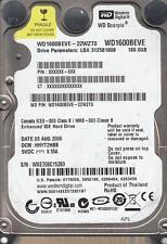 WD1600BEVE-22WZT0 dcm:HHYT2HBB  Western Digital 160Gb IDE A8-22