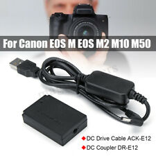 LP-E12 Power Charger Cable ACK-E12+DR-E12 Dummy Battery for Canon EOS M EOS M2