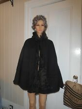 Vintage 1800's Black Cape Must See