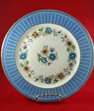 "STUNNING CHARLES AHRENFELDT LIMOGES FRANCE DINNER PLATE 10"", BLUE BORDER, FLORAL"