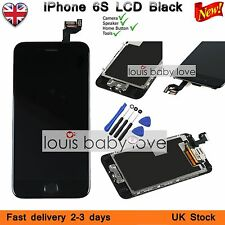 """iPhone 6S 4.7"""" Replacement Digitizer LCD Touch Screen Home Button Camera Black"""