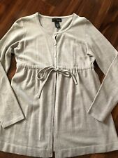 ladies NEW YORK & COMPANY CARDIGAN gray sweater FULL comfort zone SOFT medium