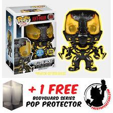 FUNKO POP VINYL MARVEL ANT-MAN YELLOW JACKET GLOW EXCLUSIVE + FREE POP PROTECTOR