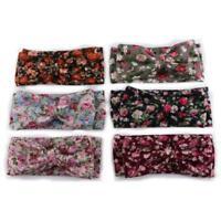 Newborn Bowknot  Floral Flowers Girls  Baby  Hair Band Knot Turban Headband