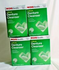 Lot of 4 DENTURE CLEANSER 3-Minute 84 Effervescent Tablets Like Polident EX 6/22