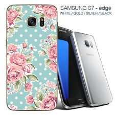 Vintage Flores Samsung 7 Borde Piel Posterior-Adhesivos Para Samsung 7/Samsung Edge