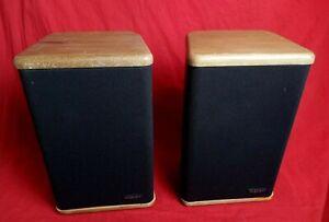 ADVENT Mini Advent Bookshelf Speakers with Real Hardwood End Caps