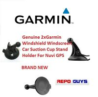 2 x Genuine Garmin Windshield Windscreen Car Suction Cup Holder For Nuvi GPS