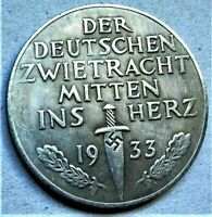 WW2 GERMAN COMMEMORATIVE COLLECTORS COIN 1933