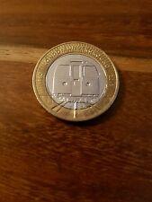 Deux Livre £ 2 coin-London Underground train