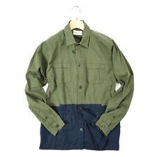 Oliver Spencer $410 Shirt Long Sleeve Bicolor Waist String Cotton [S] GNxNB