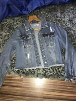 newlook denim jacket size 10 worn once