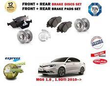 Para MG 6 MG6 1.8 1.9 Dti 2010   > Delantero + Trasero Freno Disco Set + Kit de