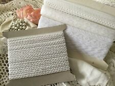 47+ Yards of Delicate Lace Trims, Excellent Quality, 4 Different Styles, White